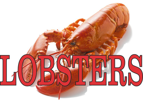 Lobster Banner In Full Color Bring In Customers.