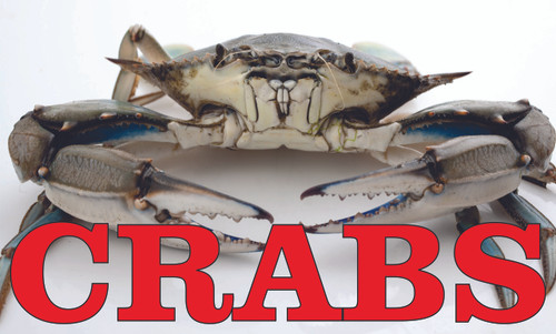 Crabs banner will bring new customers into your seafood market.