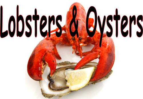 Nice Seafood Banner with Lobster & Oyster.
