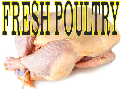 Fresh Poultry Banner.
