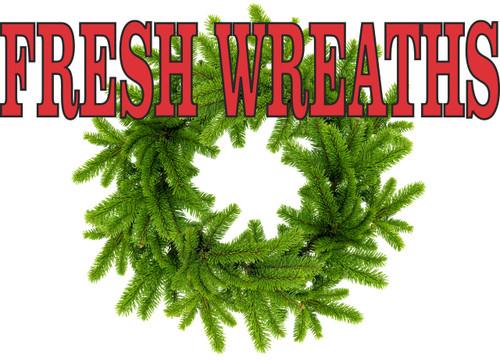 Fresh Wreaths Banner.