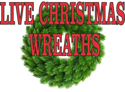 Live Christmas Wreaths Banner.