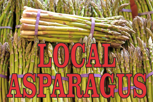 Local Asparagus Banners for Produce Stands.