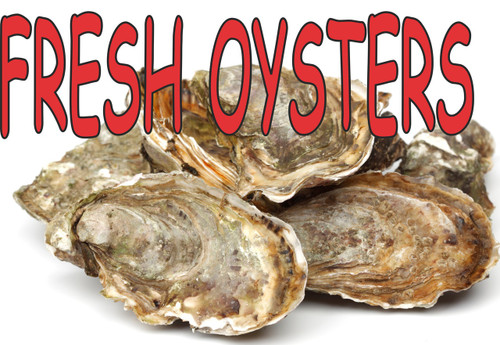 Fresh Oyster banner is nice for seafood stands.