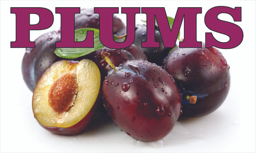 Plums Everyone Will Notice this Colorful Banner.