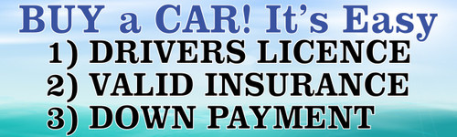 Buy a Car It's Easy as 1,2,3 Auto Banner.
