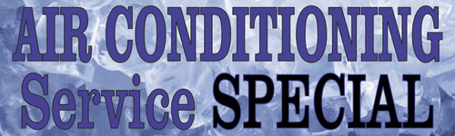 Auto Repair Banner Air Conditioning Service Special.