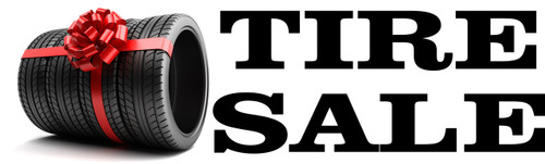 Car Dealer Banner Tire Sale.