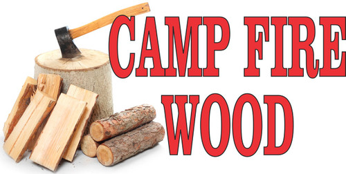 Camp Fire Wood Banner