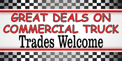 Great Deals on Commercial Trucks Banners