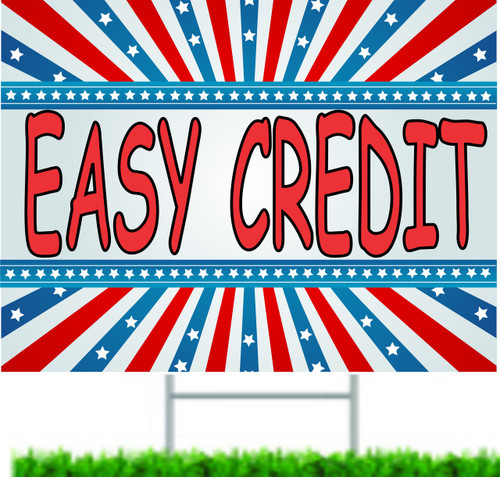 Easy Credit Used Auto Dealer Yard Signs.