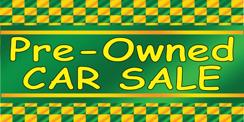 Pre-Owned Car Sale Used Car Banner.