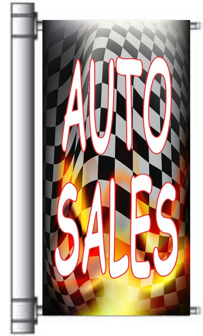 Auto Sales Pole Banner for Used Auto Sales Dealer Banner.
