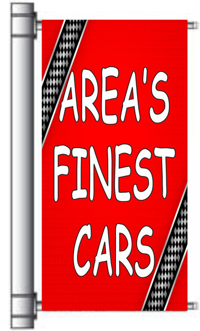 Area's Finest Cars Pole Banner.