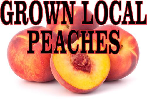 Grown Local Peaches Banenr.