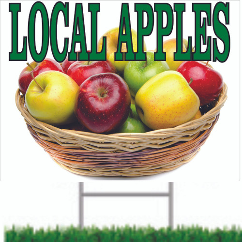 Local Apples Yard/Road Sign