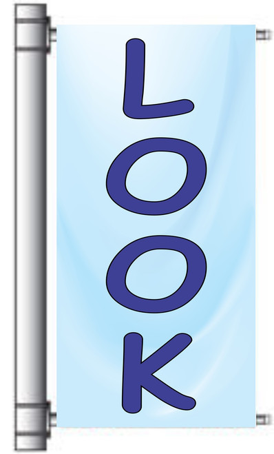 Look Bright Color Auto Dealer Light Pole Banner