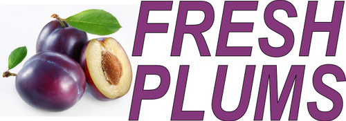 Fresh Plums Banner is Nice for Produce Markets.