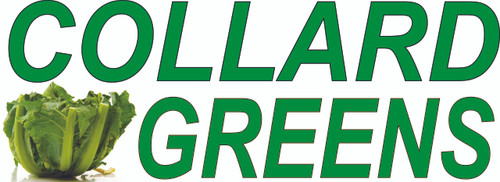 Collard Greens Banner for Vegetable Stands.