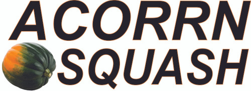 """Acorn Squash Banner with 15"""" Letters for Produce Stand."""