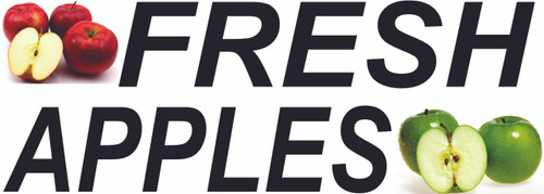 Fresh Apples Banner for Fruit Stands & Farmers Markets.