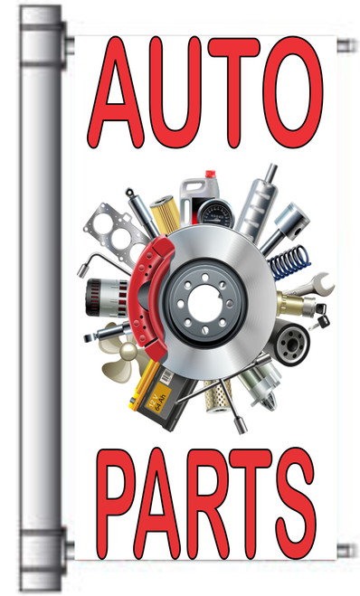 Auto Parts Light Pole Banner.