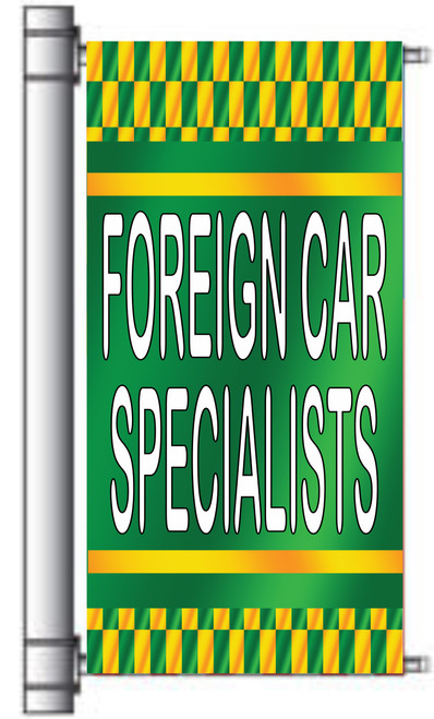 Foreign Car Specialist light pole banner