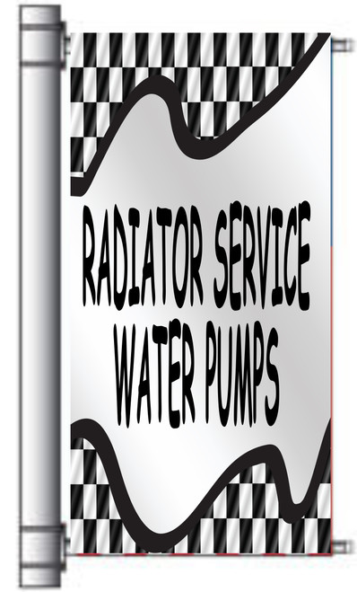 Radiator & Water Pumps Light Pole Banner.