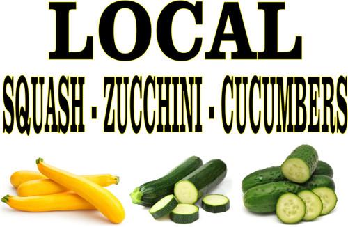 Local Squash - Zucchini - Cucumbers Banner