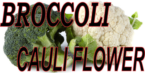 Broccoli Cauliflower banner with It's a great color contrast makes it very noticeable.