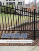 Black Residential Smooth Top Puppy Picket Drexel Aluminum Fencing From ShopFencing.com