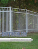 White Residential Claremont Aluminum Fencing From ShopFencing.com