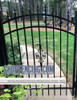 Black Residential Fairview Aluminum Walkway Gate From ShopFencing.com