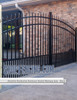 Residential Asheville Aluminum Double Walkway Gate - Rainbow Arch Puppy Picket From ShopFencing.com