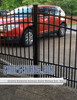 Residential Asheville Aluminum Double Walkway Gate - Rainbow Arch Puppy Picket With Finials From ShopFencing.com