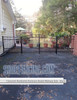 Residential Claremont Aluminum Double Walkway Gate - Rainbow Arch Puppy Picket From ShopFencing.com