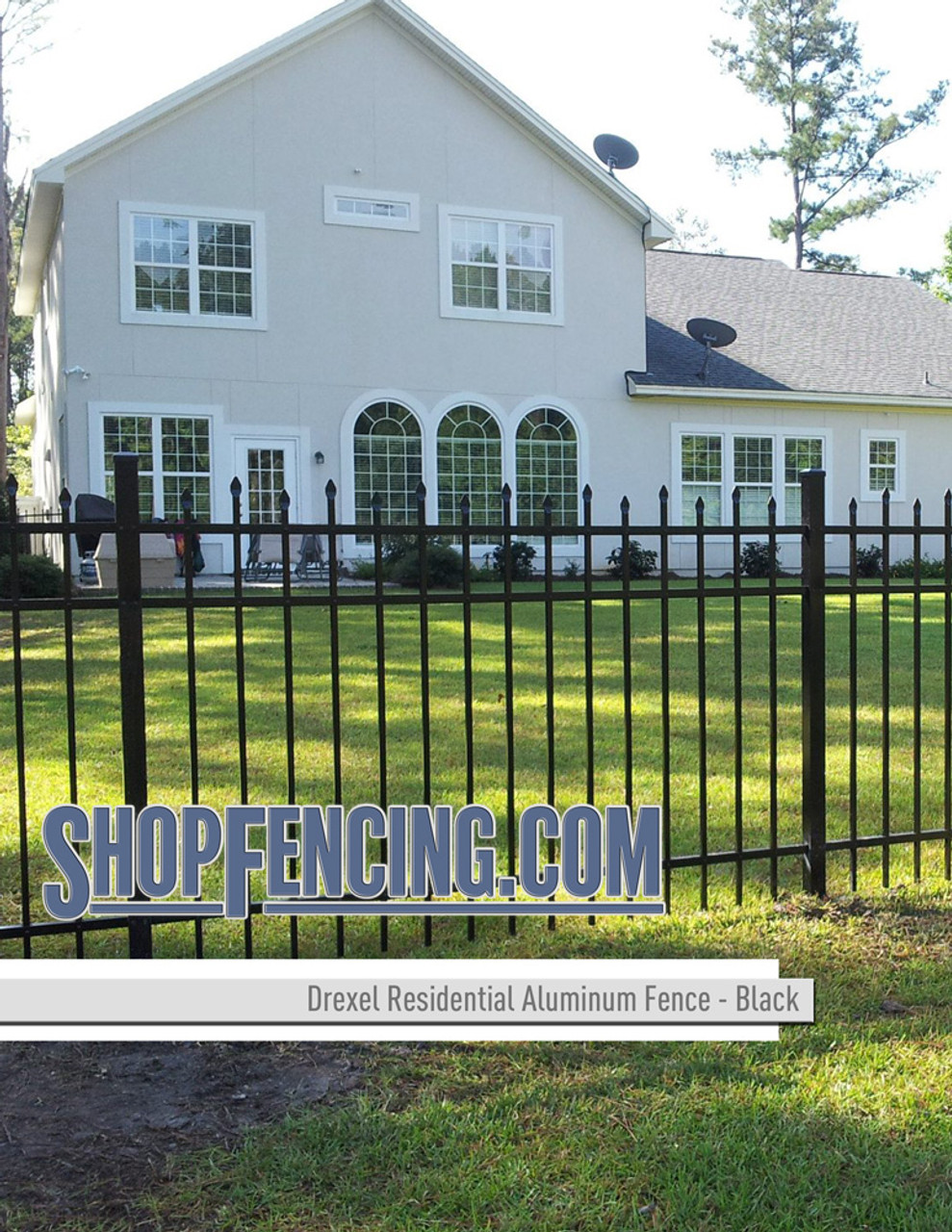 Black Drexel Residential Aluminum Fencing From ShopFencing.com
