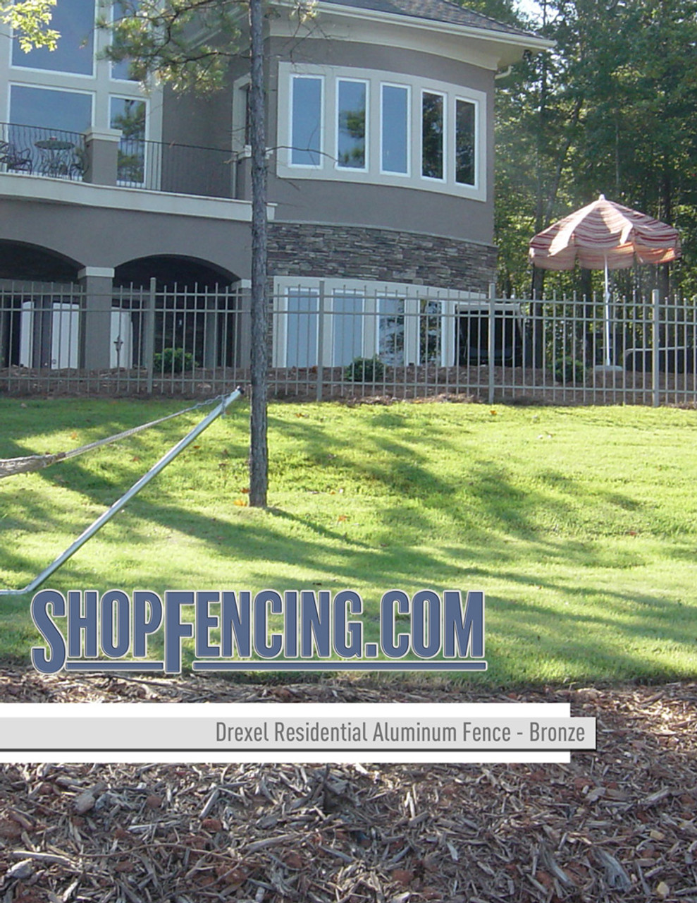 Bronze Drexel Residential Aluminum Fencing From ShopFencing.com