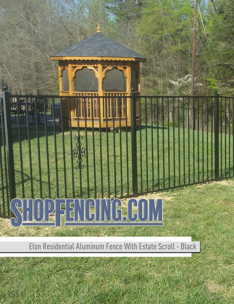 Black Residential Elon Aluminum Fencing From ShopFencing.com
