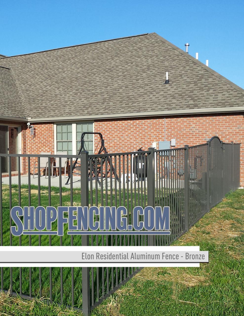 Bronze Residential Elon Aluminum Fencing From ShopFencing.com
