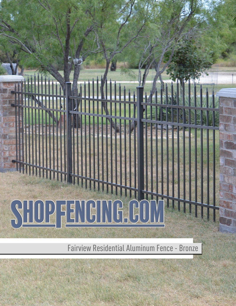 Bronze Residential Fairview Aluminum Fencing From ShopFencing.com