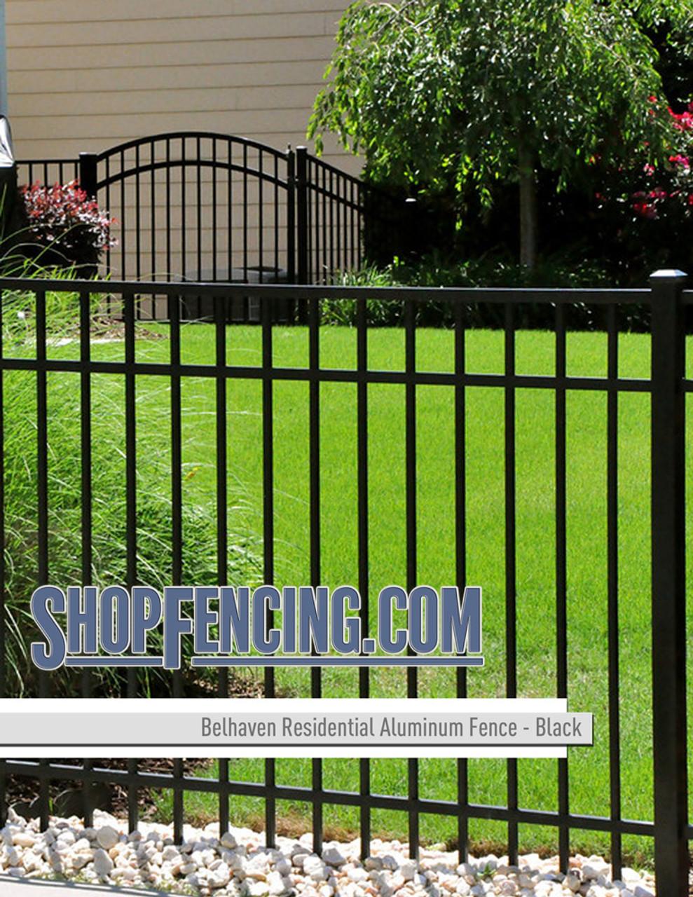 Black Residential Belhaven Aluminum Fencing From ShopFencing.com