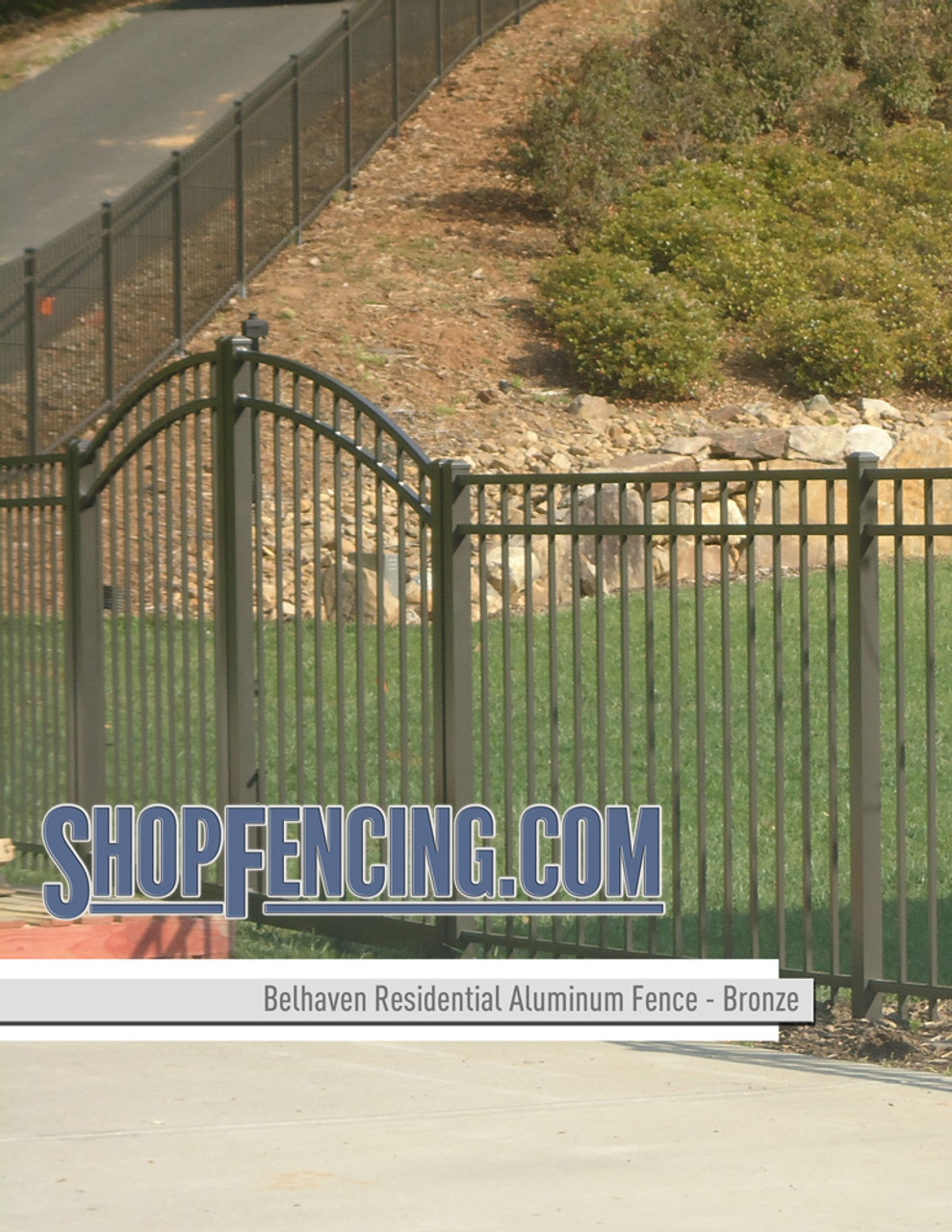 Bronze Residential Belhaven Aluminum Fencing From ShopFencing.com