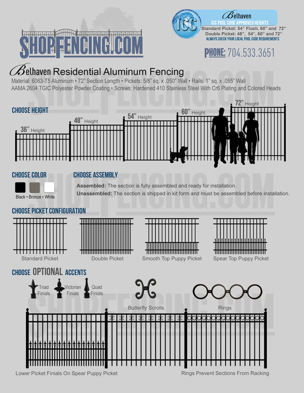 Belhaven Residential Aluminum Fencing From ShopFencing.com