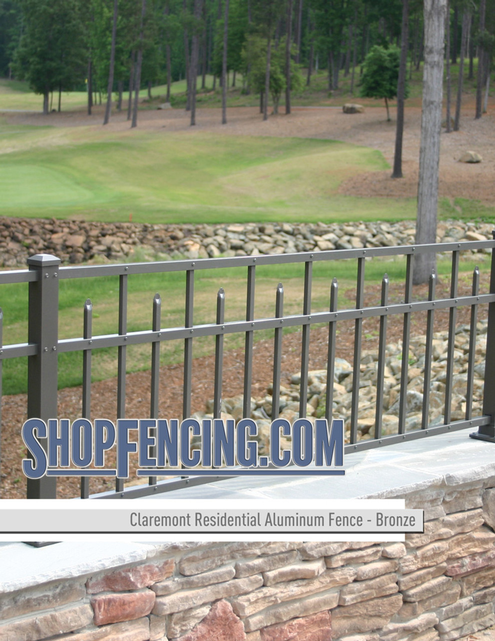 Bronze Residential Claremont Aluminum Fencing From ShopFencing.com