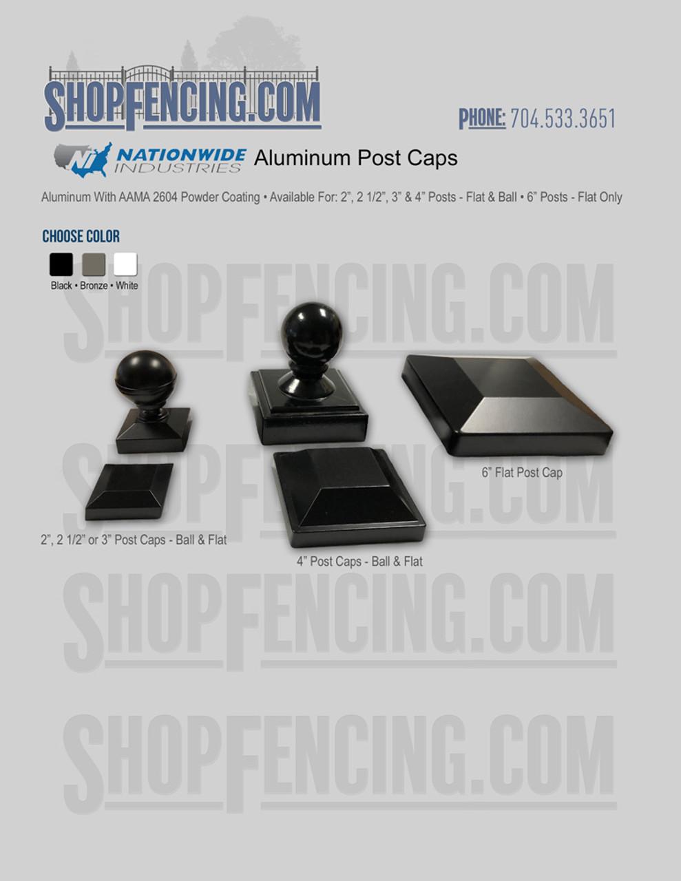 Aluminum Post Caps