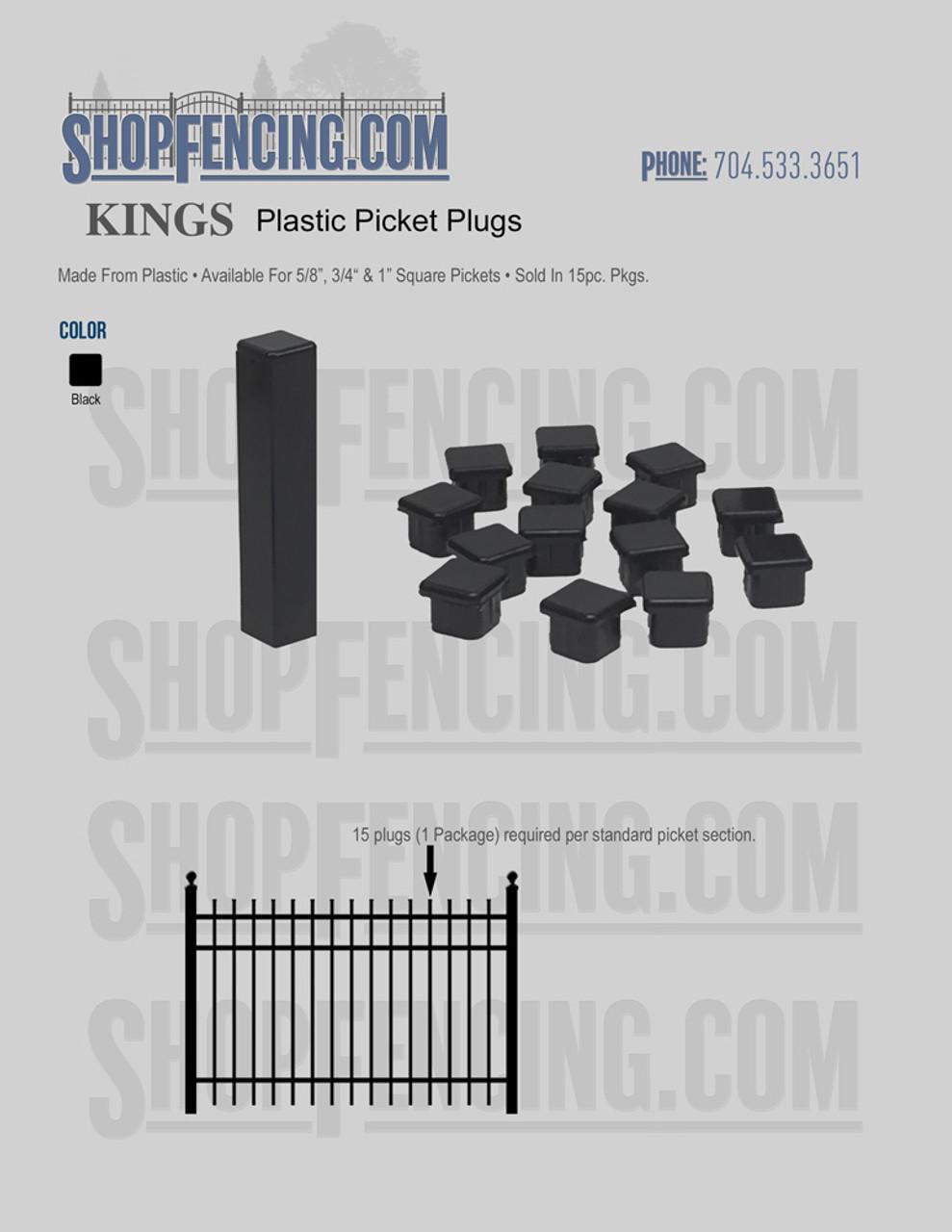 Plastic Picket Plugs