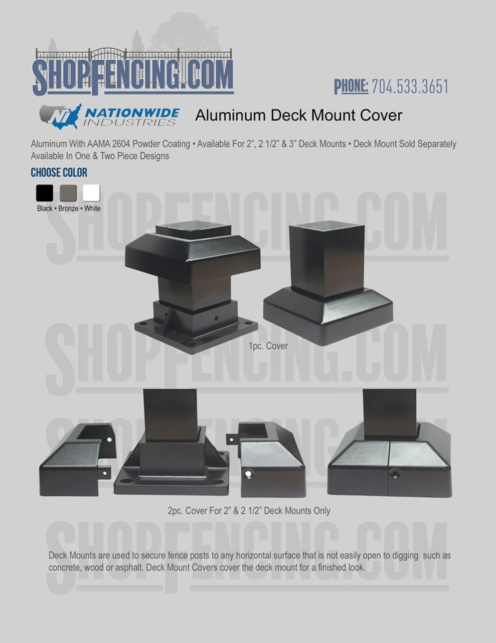 Aluminum Deck Mount Cover