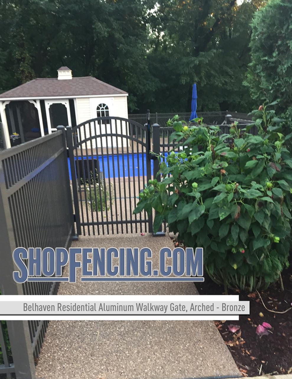 Bronze Residential Belhaven Aluminum Walkway Gate From ShopFencing.com