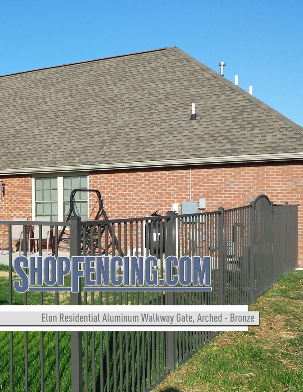 Bronze Residential Elon Aluminum Walkway Gate From ShopFencing.com